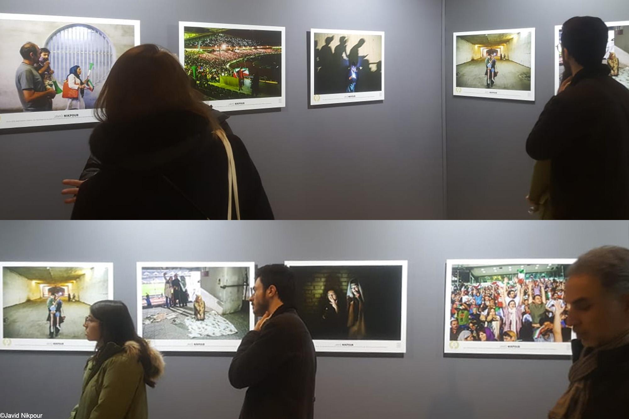 View of exhibition of the Paris Sport Photo award. Photo: Atousa